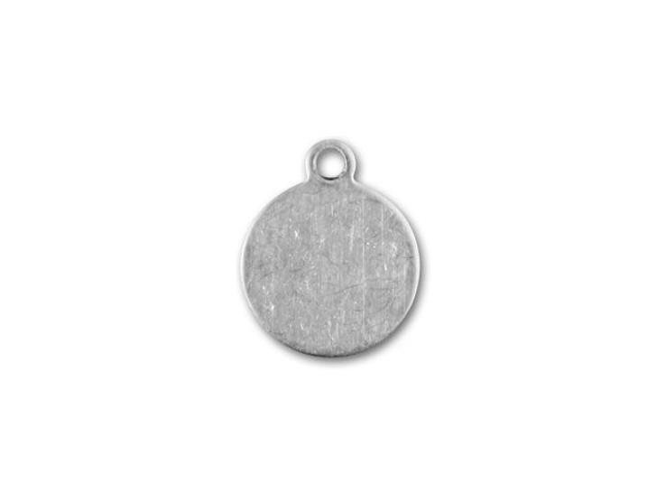 9mm Sterling Silver Small Round Tag Charm