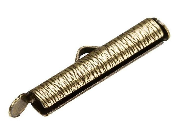 Alacarte 24mm Antique Brass Crimp End Tube