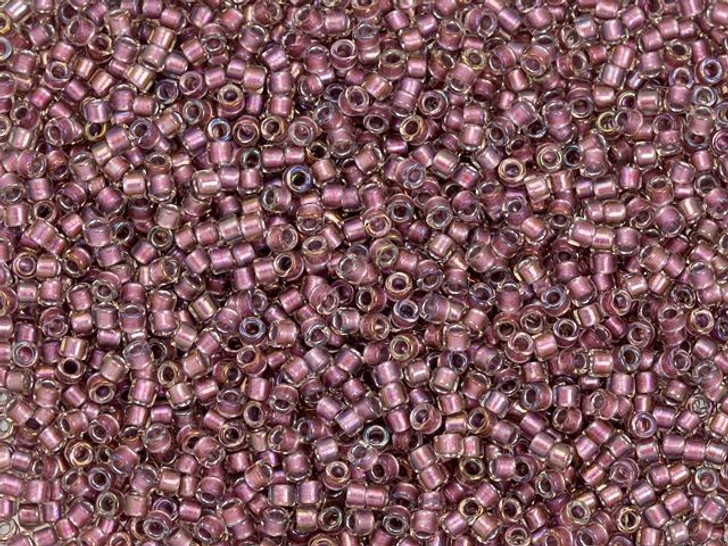 TOHO Treasure 11/0 Rose Gold-Lined Crystal Luster Seed Bead 2.5-Inch Tube