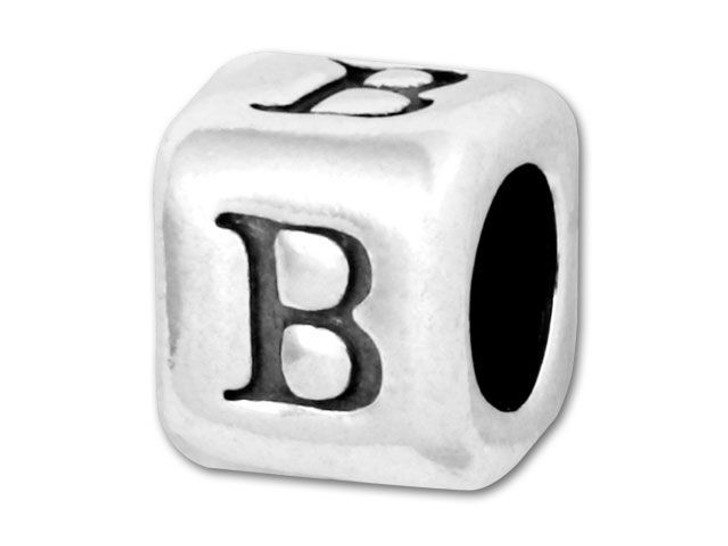 Alphabet Bead 5.8mm Rounded Cube - B