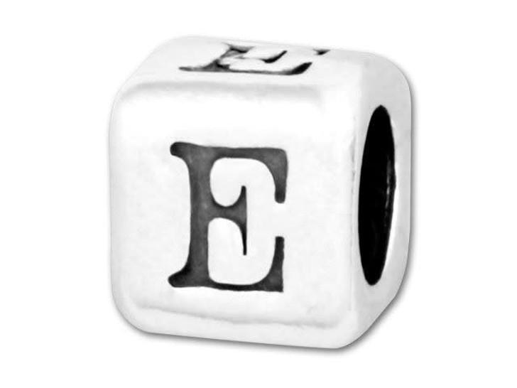 Alphabet Bead 5.8mm Rounded Cube - E