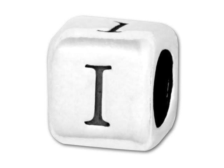 Alphabet Bead 5.8mm Rounded Cube - I
