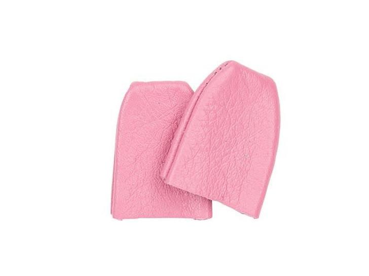 Tulip Pink Leather Thimbles (2 pcs)
