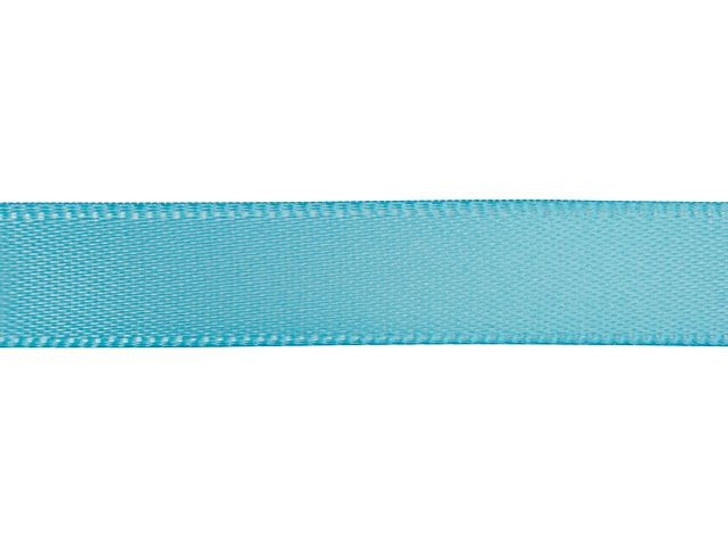 Turquoise 3/8 Inch Satin Ribbon By the Foot