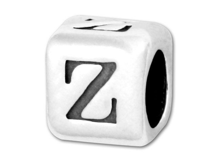Alphabet Bead 5.8mm Rounded Cube - Z