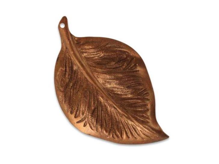 Vintaj Artisan Copper Mission Leaf Pendant