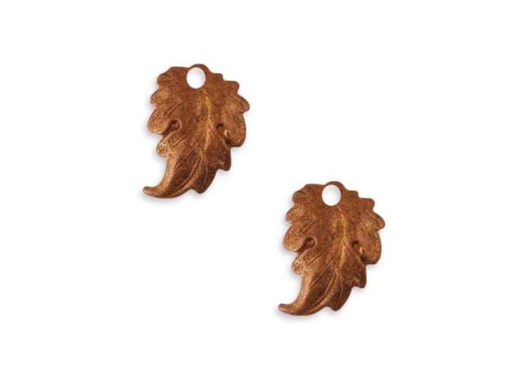 Vintaj Artisan Copper Prairie Leaf Charm