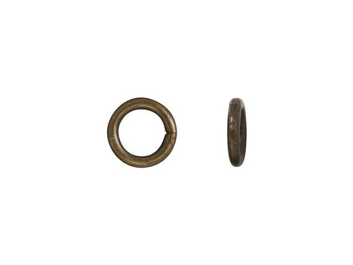 Vintaj Natural Brass 4mm 21 Gauge Jump Ring
