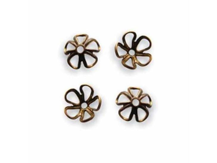 Vintaj Natural Brass 6mm Blossom Bead Cap