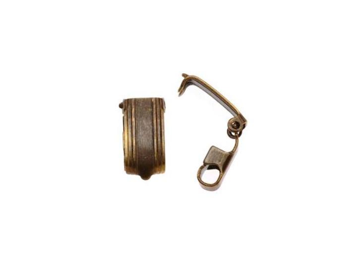 Vintaj Natural Brass Bracelet Foldover Clasp