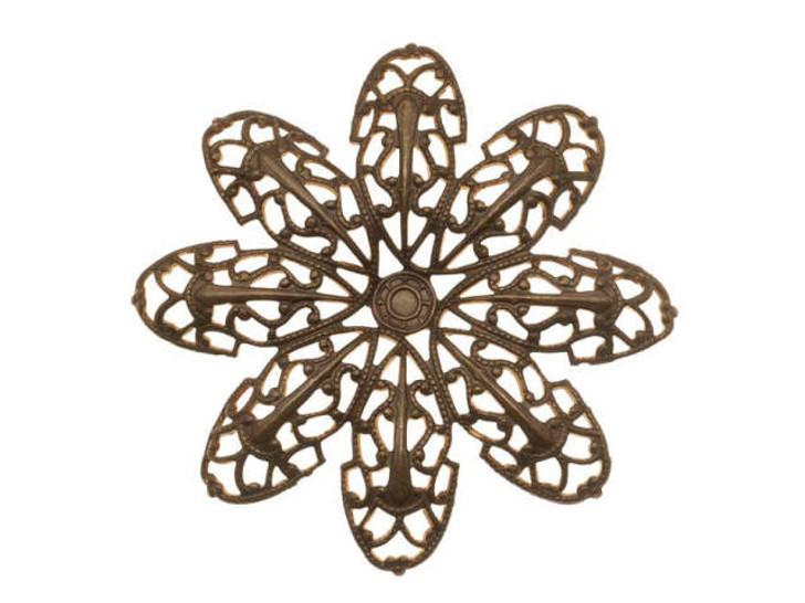 Vintaj Natural Brass Passion Flower Petal Filigree