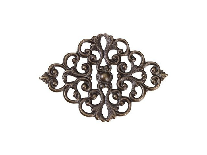 Vintaj Natural Brass Scrolled Ironwork Filigree