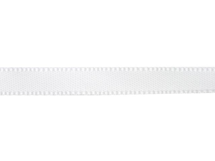 White 1/4 Inch Satin Ribbon By the Foot