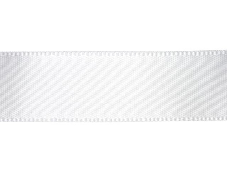 White 5/8 Inch Satin Ribbon By the Foot