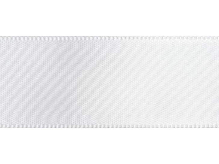 White 7/8 Inch Satin Ribbon By the Foot