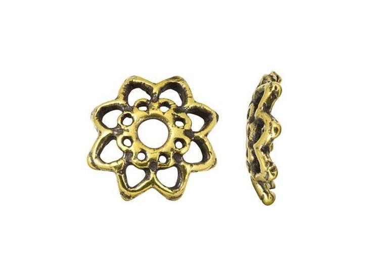 Anna Bronze Antique Brass 13mm Floral Bead Cap