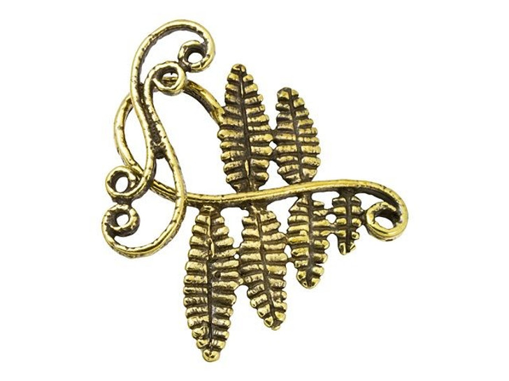 Anna Bronze Antique Brass Large Fern Toggle Clasp
