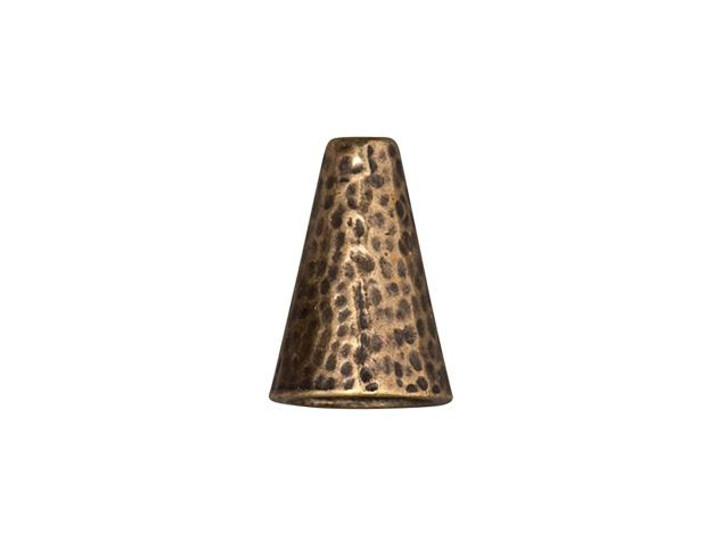 TierraCast 16mm Brass Oxide Plated Pewter Hammertone Cone