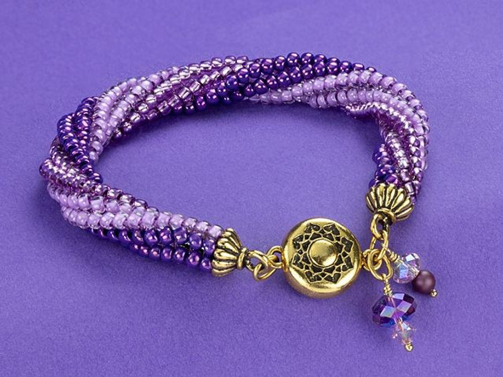 Artbeads Lavender Wish Twisted Tubular Herringbone Bracelet Kit by Cheri Carlson