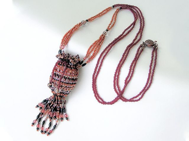 Bead Artistry Kits : Amulet Pouch Necklace - Reddish Brown