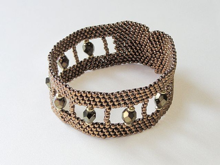 Bead Artistry Kits : Bracelet with Fire-Polished Beads - Brown