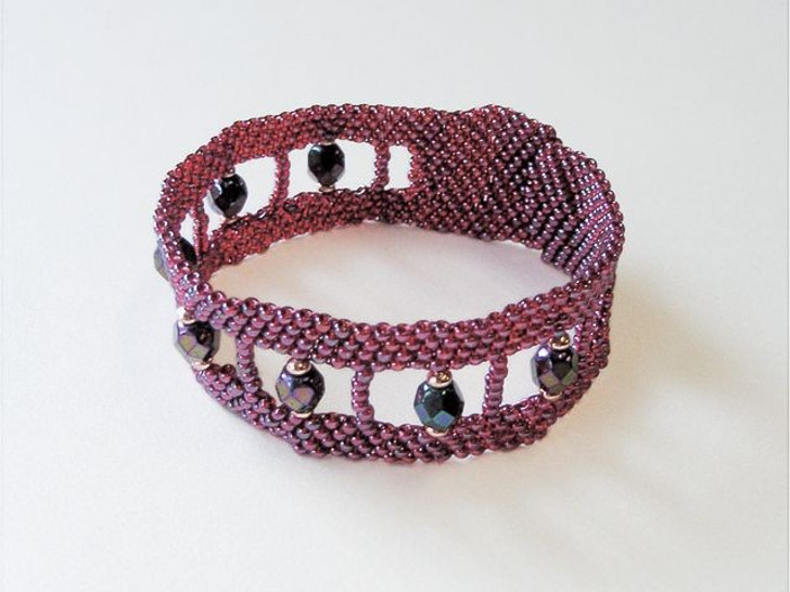 Bead Artistry Kits : Bracelet with Fire-Polished Beads - Wine