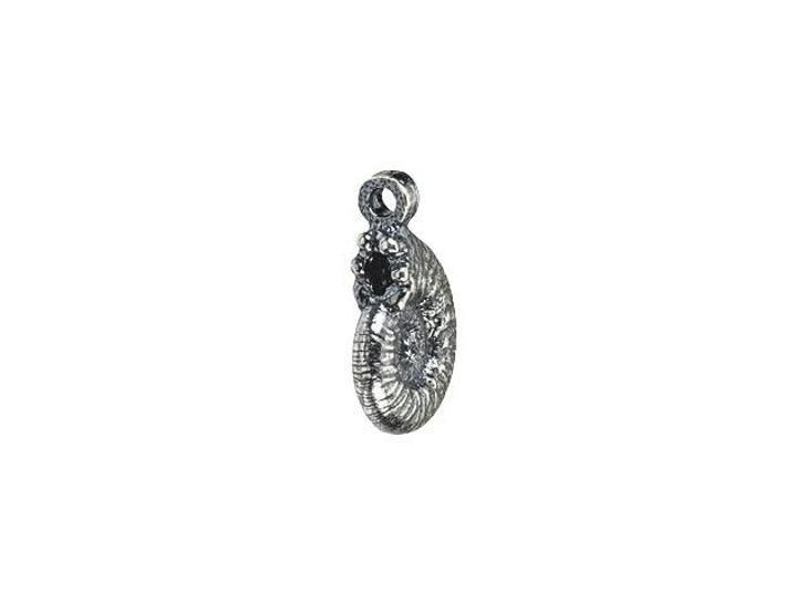 Anna Bronze Antique Silver Nautilus Shell Charm