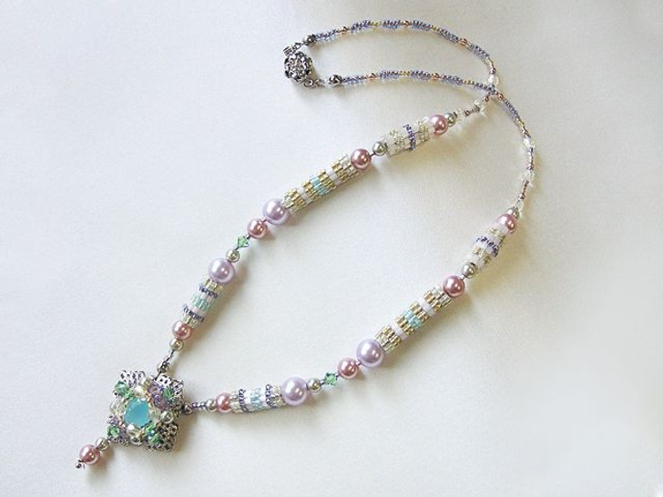 Bead Artistry Kits :Necklace with Faceted Glass Stone - Purple