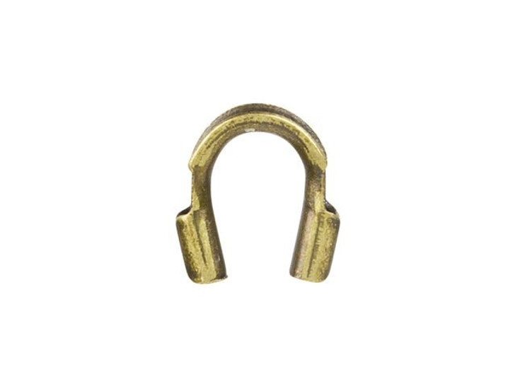 Antique Brass Cable and Stringing Thimble Wire Guard (.010-.019 Inch Hole)