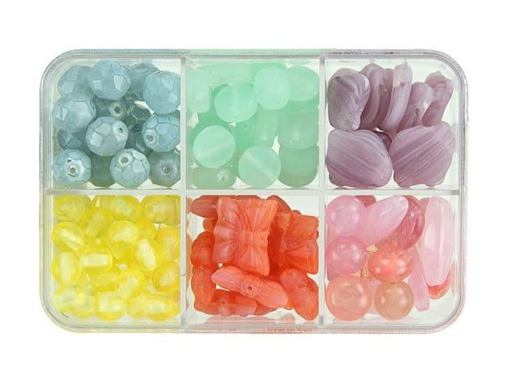 Czech Glass After Dinner Mint Bead Mix Recipe Box