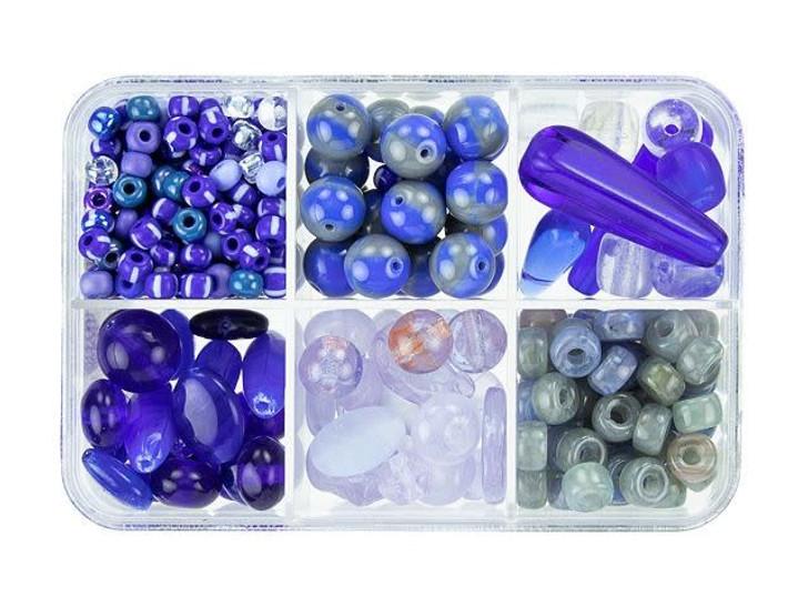 Czech Glass Blueberry Muffin Bead Mix Recipe Box