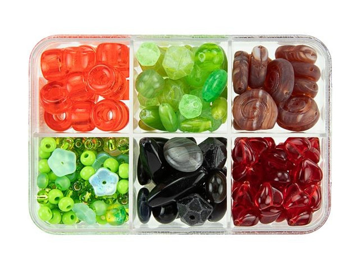 Czech Glass Candy Apple Bead Mix Recipe Box