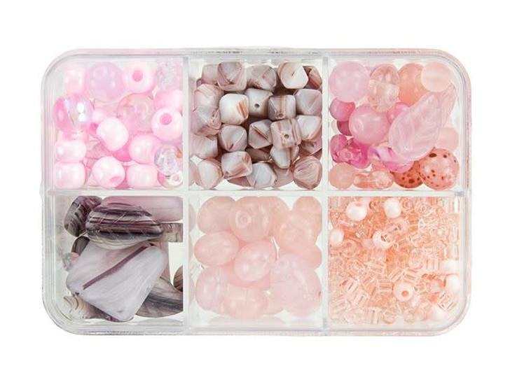 Czech Glass Cotton Candy Bead Mix Recipe Box