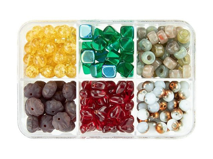 Czech Glass Fruit Cake Bead Mix Recipe Box