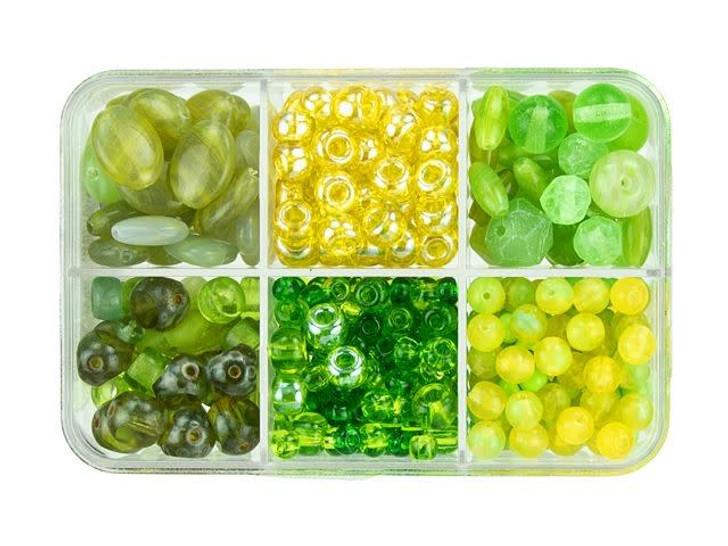 Czech Glass Key Lime Pie Bead Mix Recipe Box