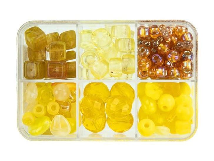 Czech Glass Pineapple Upside Down Cake Bead Mix Recipe Box