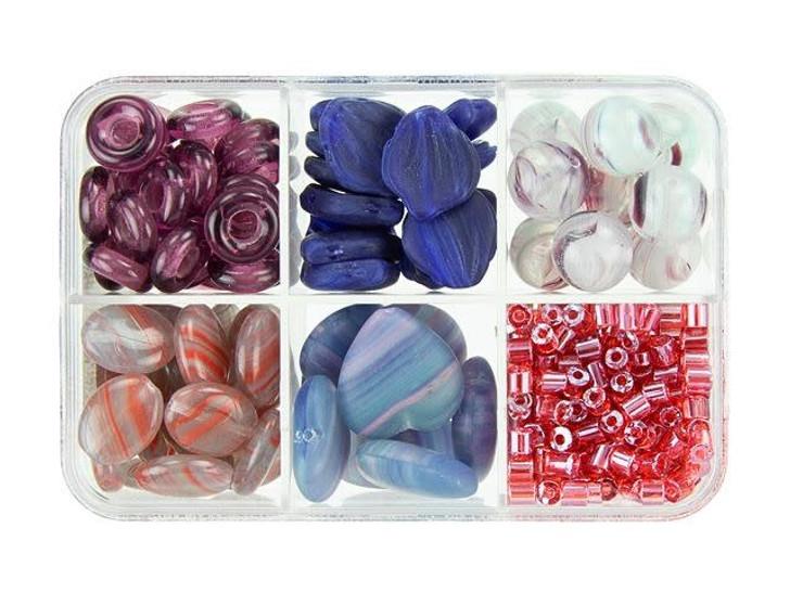 Czech Glass Plum Cake Bead Mix Recipe Box