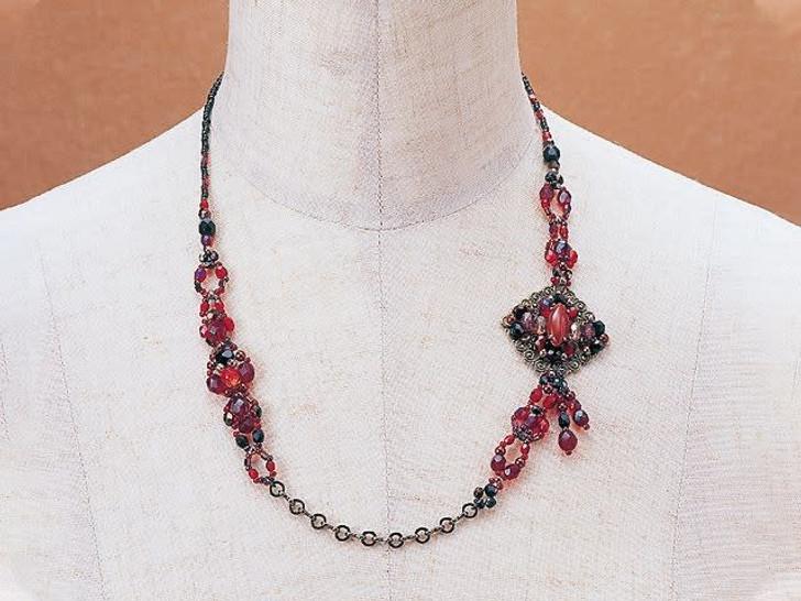 Elegant Jewelry Kits : Asymmetric Necklace - Ruby