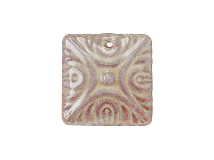 Gardanne Beads Mars Brown Enameled Brass Deco Diamond Pendant