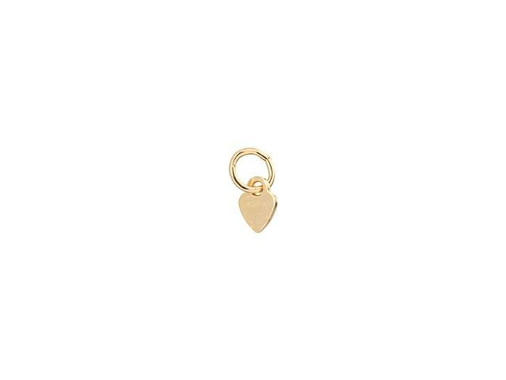 Gold Filled 3.5mm Heart Quality Tag with Ring