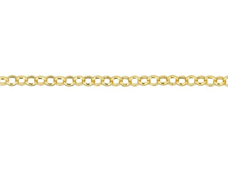 Gold-Filled 1.3mm Rolo Chain By the Foot
