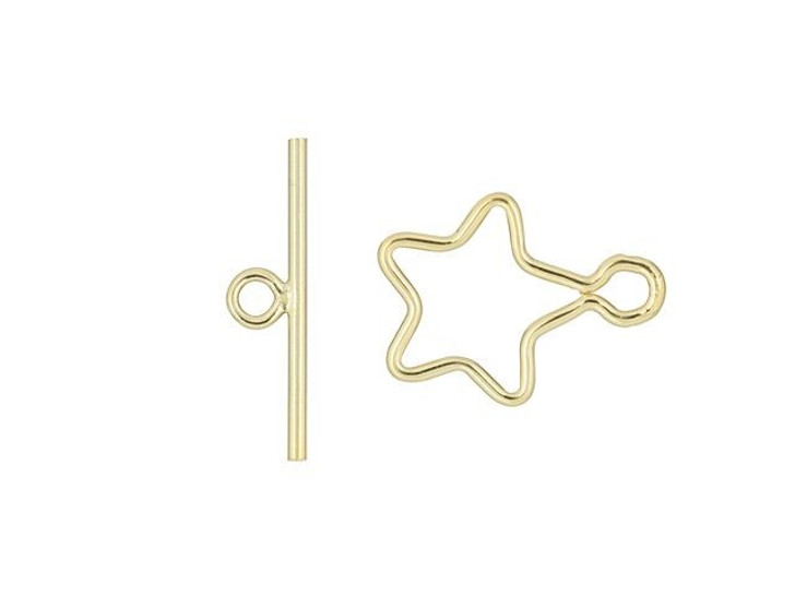 Gold-Filled 10mm Star Wire Toggle Clasp Set