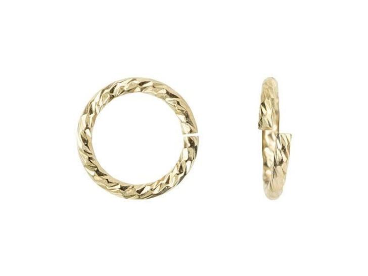 "Gold-Filled 19.5 Gauge Sparkle Jump Ring .035x.270"" (0.89x6.8mm)"