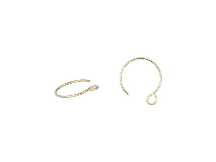 Gold-Filled 22 Gauge Circle Earwire (Pair)