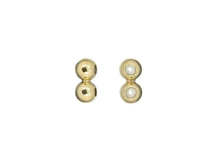 Gold-Filled 3mm 2-Row Spacer Bead with Silicone Grommet