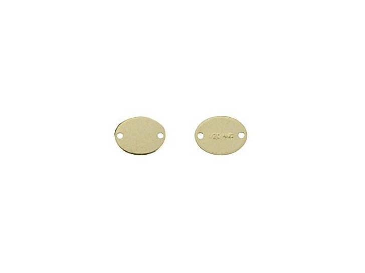 Gold-Filled 7.3 x 5.mm 2-Hole Oval Quality Tag Link