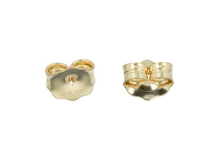 Gold-Filled Earring Back 4.3x5.1mm