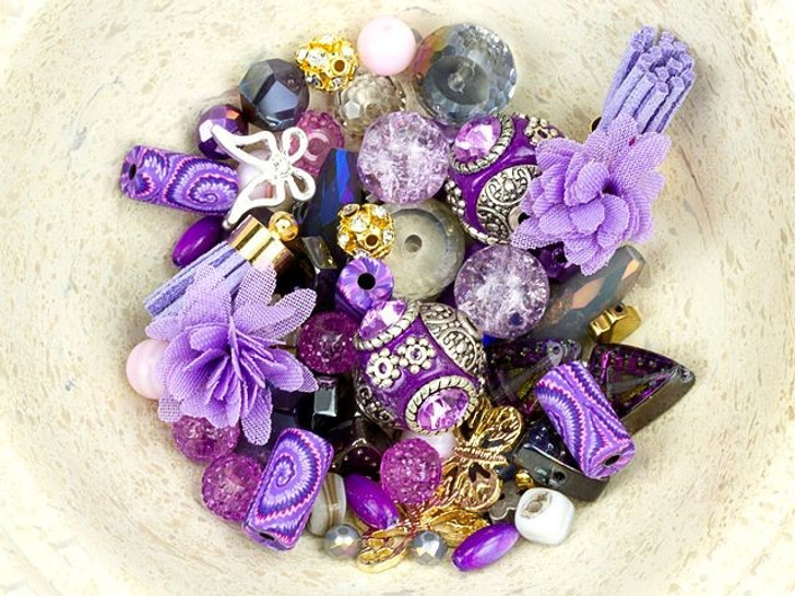 Jesse James Beads Design Elements Bead Mix in Lavender Lady