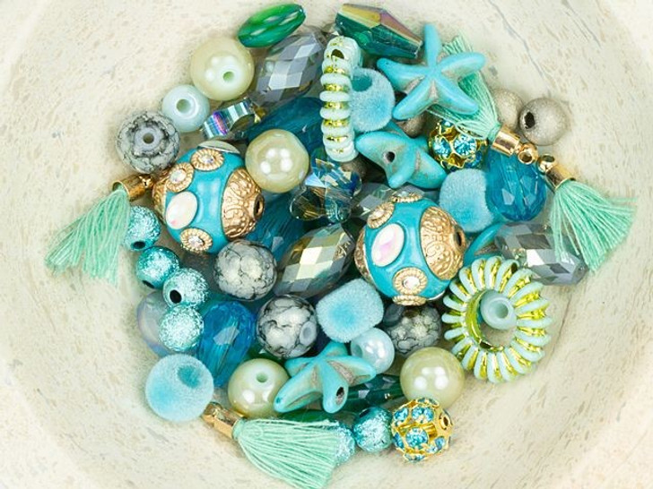 Jesse James Beads Design Elements Bead Mix in Mermaid Treasure