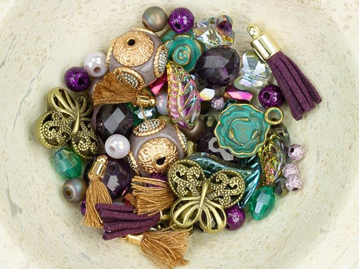 Jesse James Beads Design Elements Bead Mix in Viola